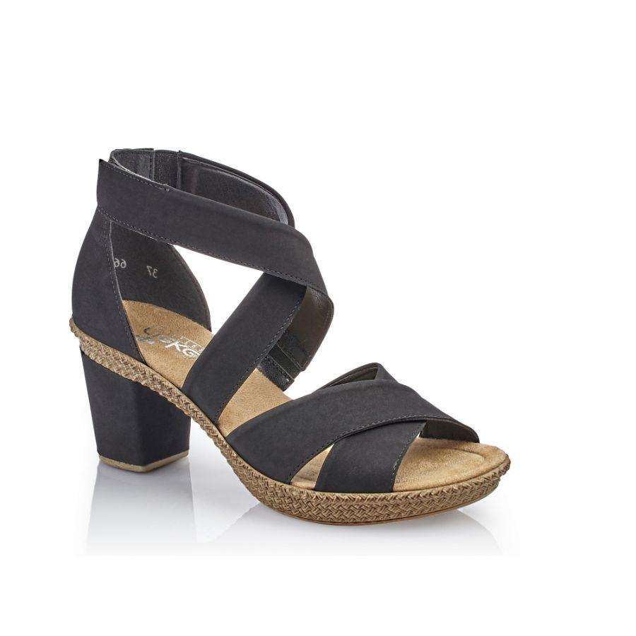 Rieker damsandaler, sandaletter svart
